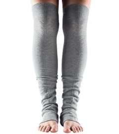 LEG WARMER Open Heel Heather Grey