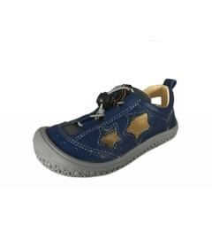 ZIPPER GUMMI SANDALE Royal Blue/Stone Star