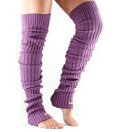 LEG WARMER Thigh High Plum