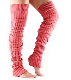 LEG WARMER Thigh High Coral
