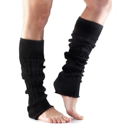 LEG WARMER Knee High Black