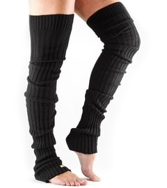 LEG WARMER Thigh High Black