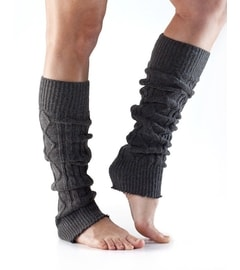 LEG WARMER Knee High Charcoal Grey