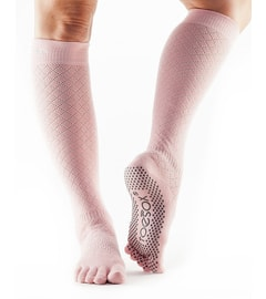 SCRUNCH KNEE HIGH Grip Full Toe Fishnet Kiss