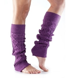 LEG WARMER Knee High Plum