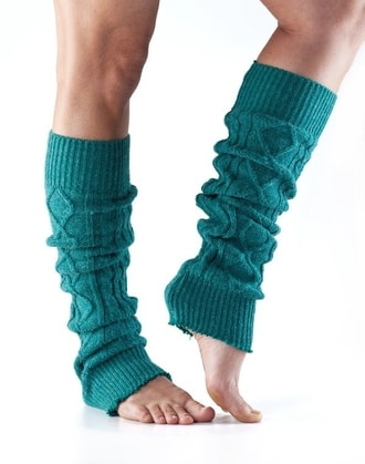 LEG WARMER Knee High Forest