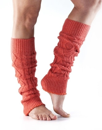 LEG WARMER Knee High Coral