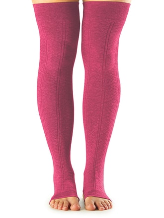 LEG WARMER Open Heel Raspberry