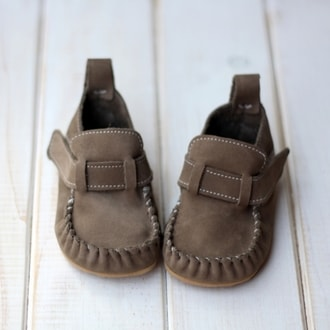 LEO Dark Brown Suede